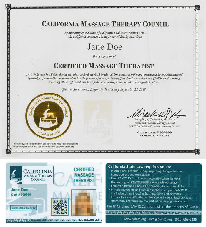 California Massage Therapy Council Providing Voluntary